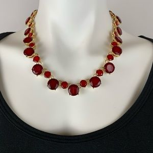 3 FOR $20  Ruby Red Faceted Necklace
